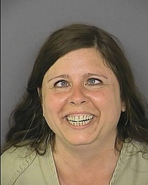 This mugshot showed up in my newsfeedshe throws bricks at windows for fun