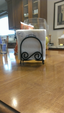 This napkin holder looks like Homer Simpson
