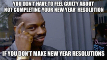 This New Year if you have problems with commitment heres a meme I made for us