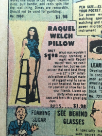 This old comic book ad has an ad for an actual body pillow with a person it Its a literal s waifu body pillow