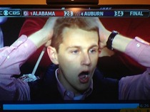 This picture pretty much sums up the end of the Auburn and Alabama game