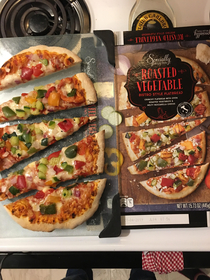 This pizza was surprisingly on point Delicious too Aldi rocks