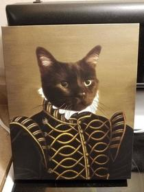 This portrait of our cat was worth every penny