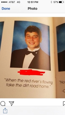 This quote somehow made it into our yearbook