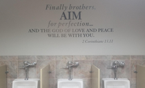 This scripture in the mens restroom of a church Well played