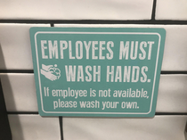 This sign at a restaurant I went to