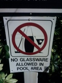 This sign at my apartments pool is oddly accurate when it comes to refraction
