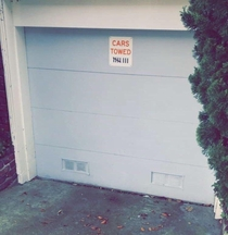 This sign on a persons driveway in San Francisco