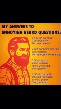 This sums up having a beard well