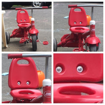 This tricycle has seen some things