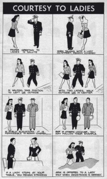 This  US Military guide on courtesy to ladies