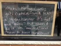 This was written on a chalkboard in a Philly shop window Was not disappointed