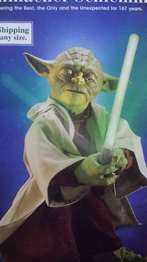 This Yoda figurine looks like it was modeled after Anthony Hopkins