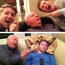 Thought itd be funny to catch my granddad sleeping on vacation- till I made the same mistake Touch pop