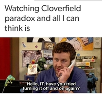 Thoughts while watching Cloverfield paradox