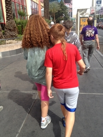 Three rat tails in a row Only in Vegas