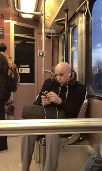 Times are tough - even Dr Evil is taking public transit