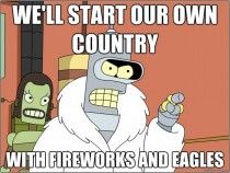 To all the foreigners hatin on Independence Day I have to imagine this is how it went down circa