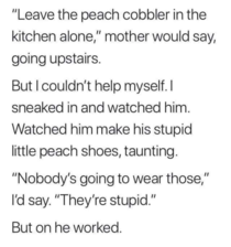 To be a cobbler