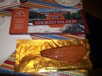 To be fair it was still a lot of smoked salmon