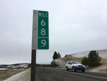 To stop theft Washington State Department of Transportation changed the  miles marker to