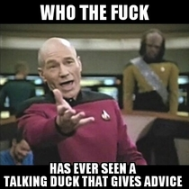 To the Annoyed Picard stating  Who the fuck has ever met an overly suave it guy
