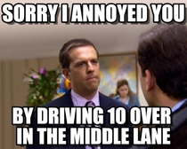 To the girl who was tailgating me on the highway today