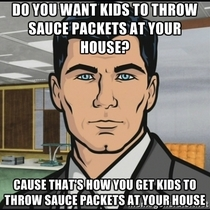 To the guy handing out sauce packets at halloween