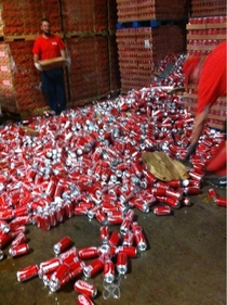 To the guy who dropped the eggs I had a similar situation with coke  pallets high