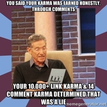 To the honest karma farmer