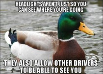 to the people that dont want to put their headlights on when its just starting to get dark out
