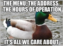 To the people who design websites for restaurants