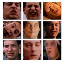 Tobey Maguire has the best facial expressions
