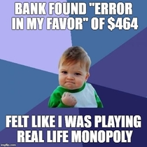 Today I felt Like I was Playing Real Life Monopoly