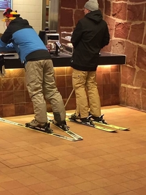 Today I saw these drunk guys trying to order food from McDonalds