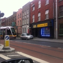 Today in Dublin someone caused city-wide train delays by parking on the tracks in order to visit a sex shop