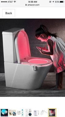 Toilet lights are good for navigating darkness or helping children speak to demons