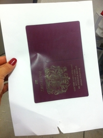 Told the new guy at work we need a copy of his passport to verify his eligibility to work This is what we got