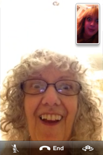Took an unplanned screen shoot during FaceTime with my mom  generations of hotness