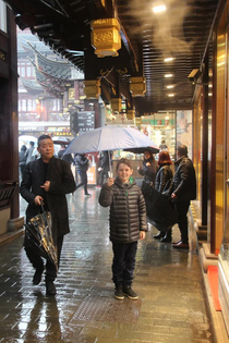 Took my son to Shanghai The locals were really nice