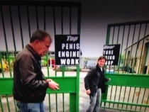 Top gear sign on their gate tell me they didnt do that on purpose