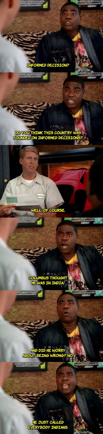 Tracy Jordan on informed decisions