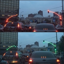 Traffic light for the Jedi In Ukraine