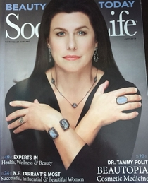 Transvestite John Travolta is a local magazine model