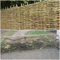 Tried building a weaved fence using the branches from hacking my garden back and it went terribly wrong A it doesnt look pretty and B when I burned the remnants of the branches and leaves my neighbours tried kicking in my garden gate as they thought my ho
