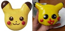 Tried making a pikachu donut