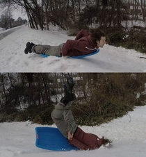Tried my hand at sledding today