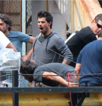 Tried taking a picture of Taylor Lautner on set yesterday and captured photoshop gold