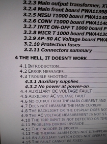 Troubleshooting from a manual at my work