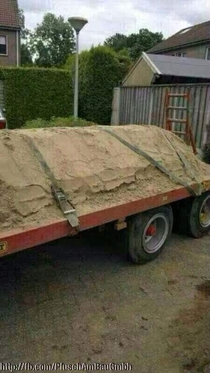 Truck loaded with sand